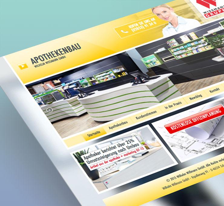 Apothekenbau Website Logo Design Webdesign Webentwickler