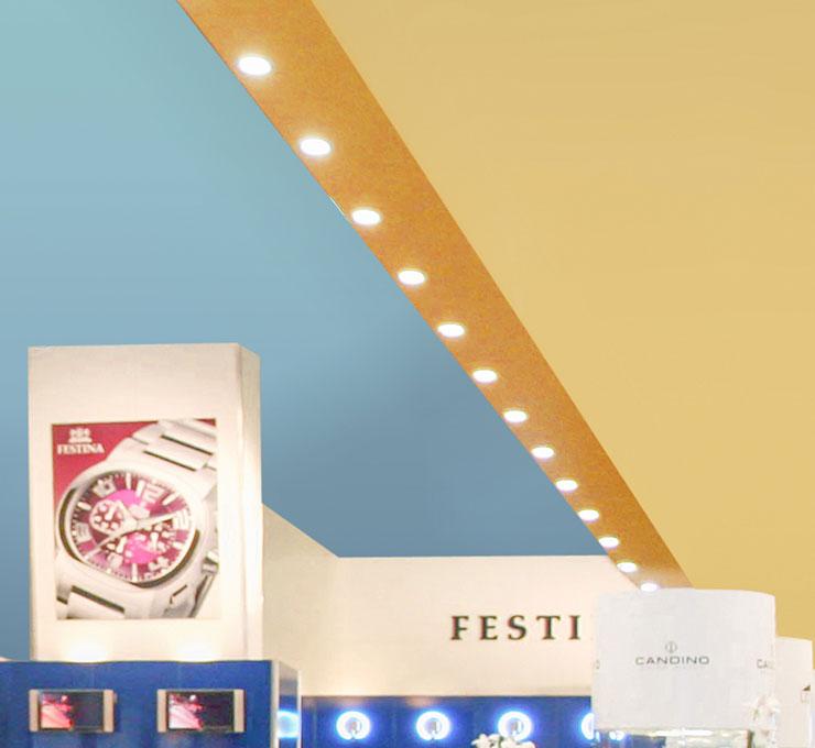 Messestand Uhrenfotografie Festina Produktfotografie