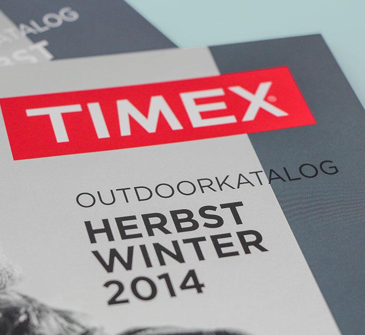 Timex Katalog Grafikdesign Satzarbeit Werbeagentur Düsseldorf
