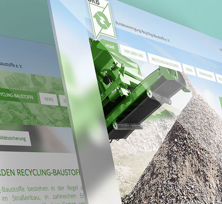 Recyclingunternehmen Website Digitaler Auftritt