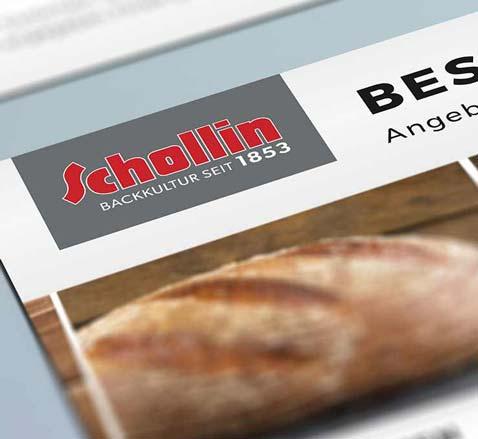 Redesign Corporate Design Bäckerei Schollin