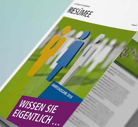 Printmedien grafikdesign gestaltung mitarbeiterzeitung