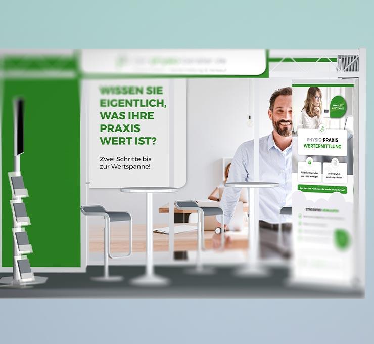 Messestand Werbemittelgestaltung Werbeagentur in Essen (Ruhrgebiet)